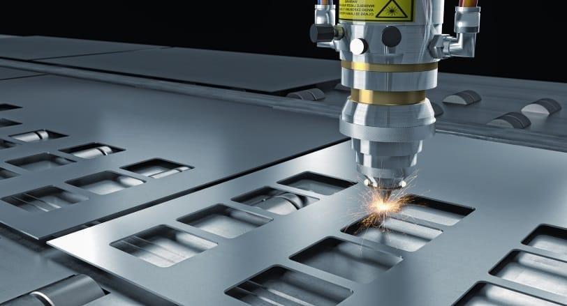 Der Laser auf dem Gebiet der Blechbearbeitung.