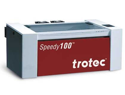 Speedy 100 Lasergraviermaschine, nutzbar als Tischgerät