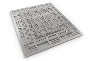 Laserschneiden von Edelstahl mit passgenauen Aussparungen