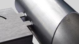 Laserschnitt in Rohr für eine Profilverbindung
